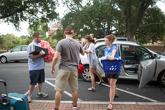 Photo: Move In Day, click here to learn about other housing options at Southeastern