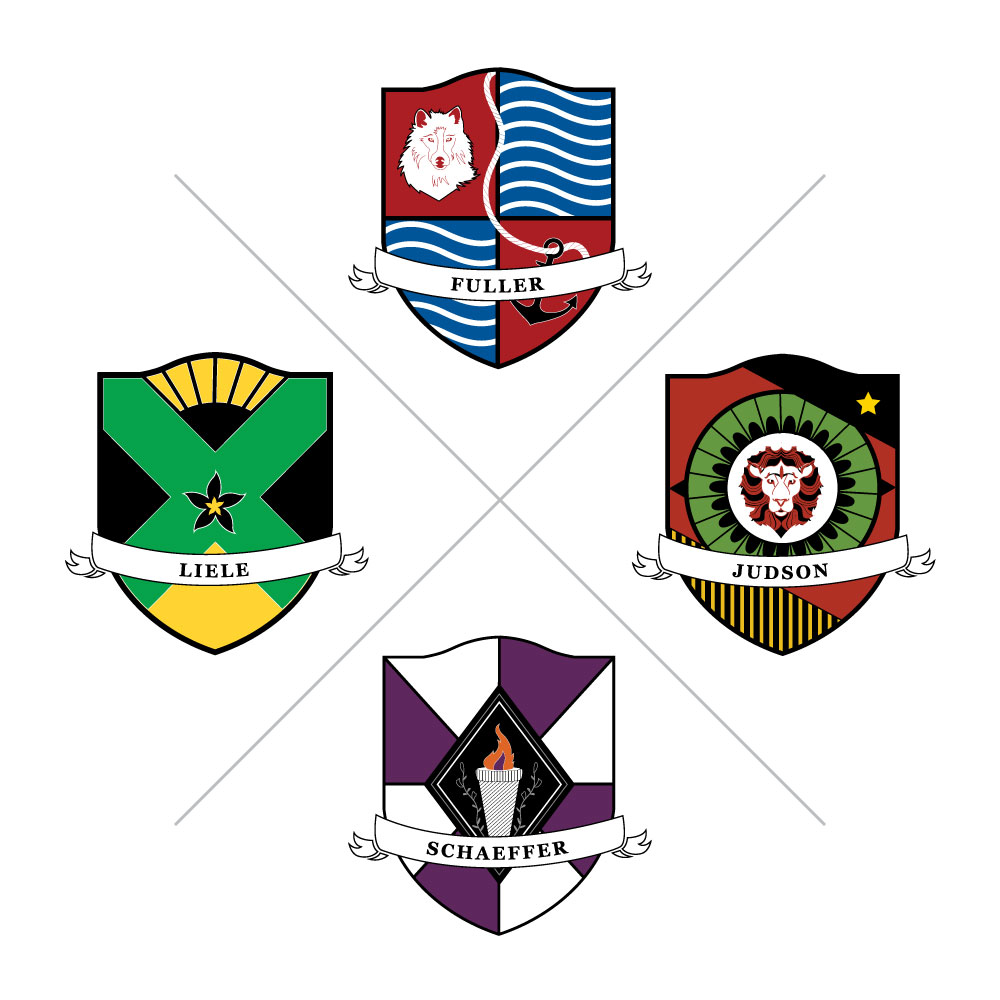 Photo: House System Crests. Click Here to go to the house system page.